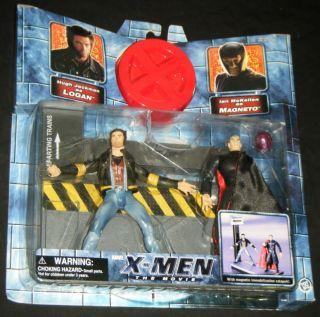 Men The Movie Logan vs Magneto 2 Pack Toy Biz 2000