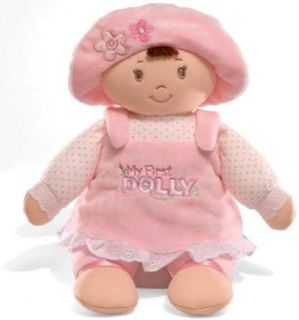 New Gund My First Dolly Brunette Soft Doll Baby Toy 0