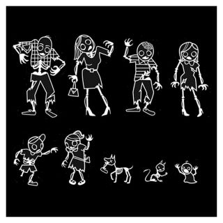 Gama Go My Zombie Family Car Decal Stickers Pack Set Undead Brains