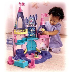 Fisher Price Little People Disney Princess Musical Songs Palace Castle