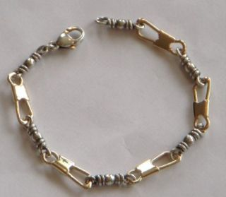 James Avery 14k Gold SS Fishers of Men Bracelet Perfect 7 5 Beautiful