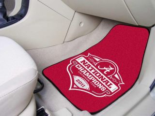 Tide 2011 BCS National Champions 2pc Car Truck Front Floor Mats