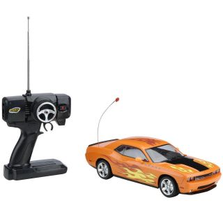 Fast Lane Radio Control 1 16 Muscle Car Orange Dodge Challenger 27MHz