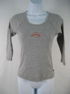 FIORUCCI Gray 3/4 Sleeve Tee Shirt Top SZ M/L