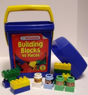 81 Pieces Kid Connection Plastic Toy Building Blocks w Handled Bucket