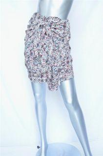 Etoile Isabel Marant Womens Multicolor Print Sarong Wrap Draped Skirt