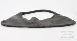 Fausto Santini Black Leather Hobo Handbag