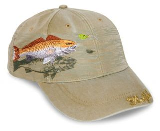 Redfish Cap Fishing Hat Detailed Embroidery