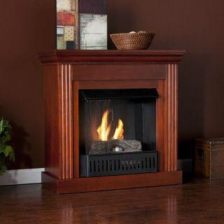 Petite Convertible Gel Fuel Fireplace Mahogany Corner / Flat Wall TV