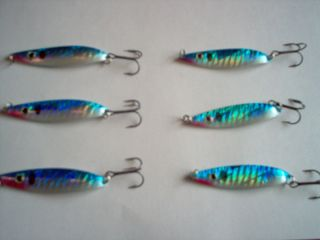 Fishing Tackle Baits LURES JIGS WORMS GRUBS JIGGING SPOONS BLUE