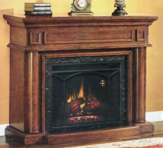 54 inch Electric Fireplace Vintage Mahogany Finish REM New