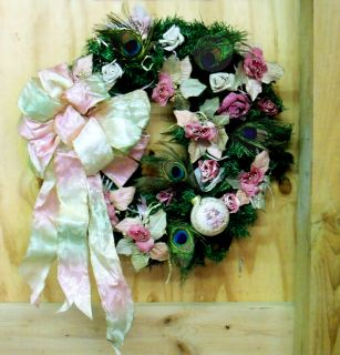 Was $44 Victorian Wreath Holiday Christmas Door Fireplace Decor