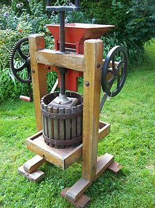 Antique Apple Cider Mill Wine Press Primitive Farm Machine Fruit