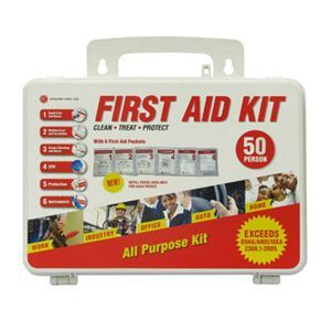 50 Person Genuine First Aid® OSHA ANSI First Aid Kit Great for