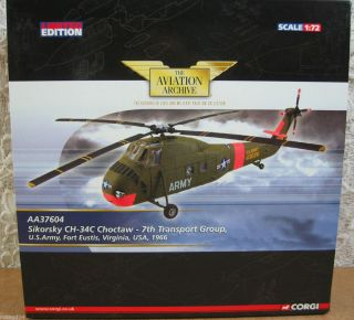 CH 34C CHOCTAW 7th Transport US Army Fort Eustis Virginia 1 72