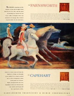 1946 Ad Farnsworth Capehart Phonograph radio Moon Horse   ORIGINAL