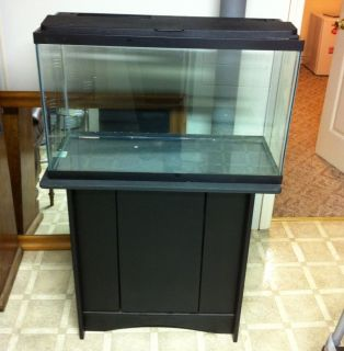 29 Gallon Aquarium Fish Tank and Cabinet Stand