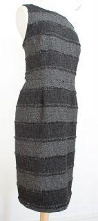 Evan Picone Black Grey White Career Work Versatile Sheath Dress 14 L