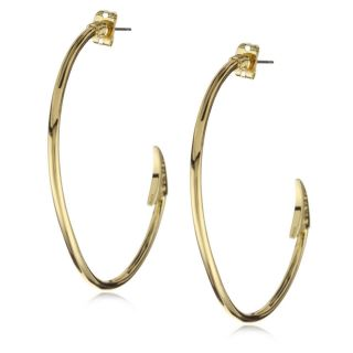 Disney Couture Little Mermaid Gold Fish Hook Hoop Earrings