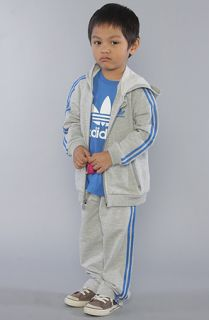 adidas The Hooded Flock Tracksuit in Grey Heather Bluebird  Karmaloop