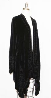 JWLA by Johnny Was Black Felice Velvet Draped Cardigan 2X