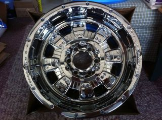 17x10 Weld Racing EVO 455 Commando XT chrome plated alloy wheels
