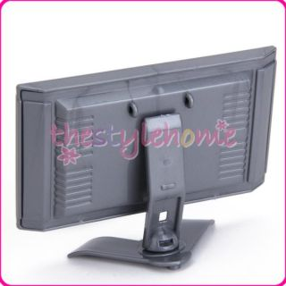 Plastic Toy Flat Screen Doll Furniture for Barbie Dolls Detachable LCD