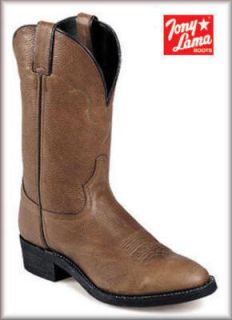 Tony Lama Mens VM7000 13 Brown Stampede Stockman Western Cowboy Boots