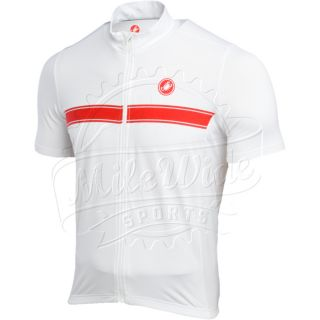 Castelli Fedele Short Sleeve Bicycle Jersey Full Zip Mens w Pockets
