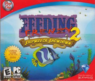 Feeding Frenzy 2 Shipwreck Showdown PC CD ROM for Windows from Pop Cap