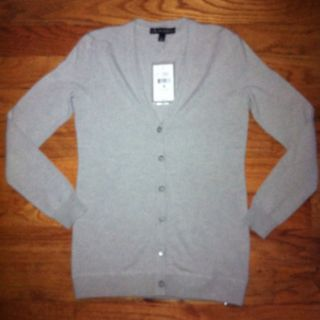 NWT Ralph Lauren Black Label Small Grey Cashmere Sweater MSRP $640