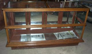 Antique Store Display Case Oak 6 Feet Long F202
