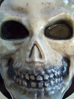 Spooky Skeleton Skull Costume Full Face Adult Scary Monster Mask