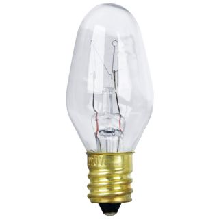 Feit Electric BP7C7 7 Watt Clear Long Life Night Light Bulbs 2 Pack