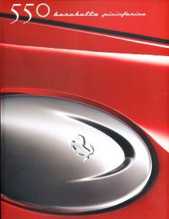 Ferrari 550 Barchetta Pininfarina Sales Brochure Book