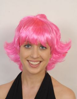 50s Style Pink Short Flick Quality Costume Party Wig