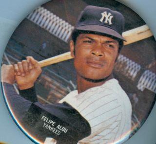 1973 Felipe Alou New York Yankees Pin Baseball Button