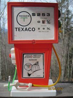 Vintage Toy Gas Pump Texaco Fire Chief Gasoline H G Toys Plastic
