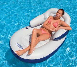intex comfy cool inflatable floating lounge chair new relax in comfort