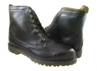 New Dr Marten Mens Fitzroy Dark Brown boots US NIB