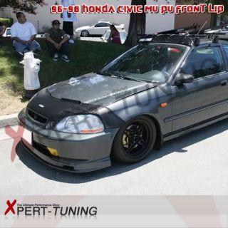 96 98 Honda Civic MU Urethane Front Lip Black Floor Mats