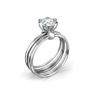 eye catcher superb design solid gold Solitaire Engagement Diamond Ring