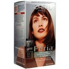 Loreal Feria 51 Brazilian Brown Hair Color 1 Each