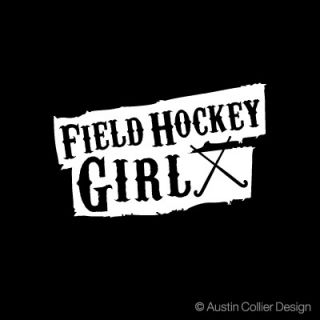 Field Hockey Girl Vinyl Decal Car Truck Window Sticker