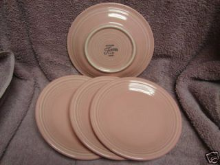 Genuine Fiesta Homer Laughlin China Dinnerware Pink Rose set 4 Dessert