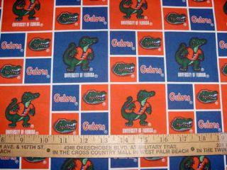 University of Florida Gators 100 Cotton Fabric NCAA College Sports