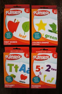NEW PLAYSKOOL Flash Cards SET TODDLERS ALPHABET COLOR SHAPES First