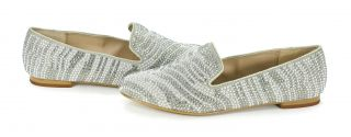 Madden Conncord Studded Loafers Flats Pewter Multi Shoes 7 New