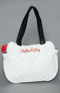 Loungefly The Hello Kitty Quilted Tote Bag in White Patent  Karmaloop