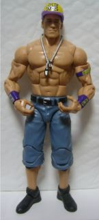 WWE John Cena Elite 11 Mattel Action Figure Hat Purple Nexus Armband